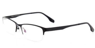 亿超fb60026c04a黑色男士商务纯钛半框近视眼镜图片