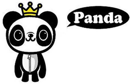 卡通人物panda,一只到处宣传珍惜爱护世界的可爱小熊猫.图片